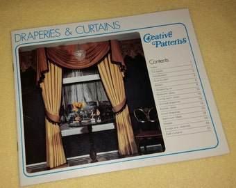 Draperies and Curtains by Creative Patterns - vintage softcover craft book 1970s