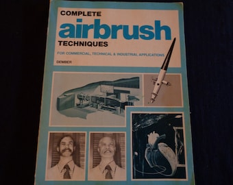 Vintage book Airbrush techniques 1974