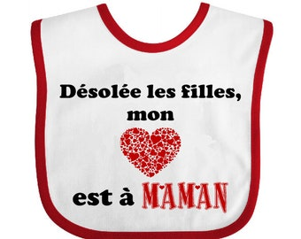 Nice large bib, Terry, humor, sorry, white, polyester