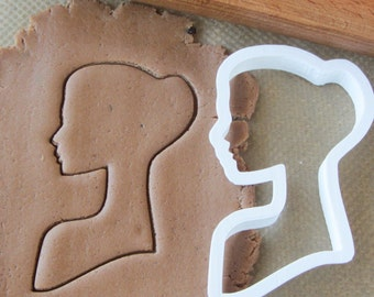 Woman silhouette cookie cutter #1