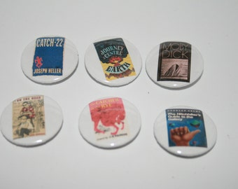 "Banned Book/Classic Book 1"" Button Badge Pin Set of 6 Series 4"