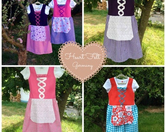 Toddler Dirndl 2/3T, 4/5T, 6-6x