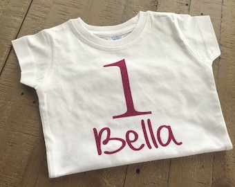 Personalized Glitter Birthday Shirt