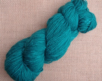 """Hand dyed British Bluefaced Leicester Double Knit yarn in """"Apollo"""""""
