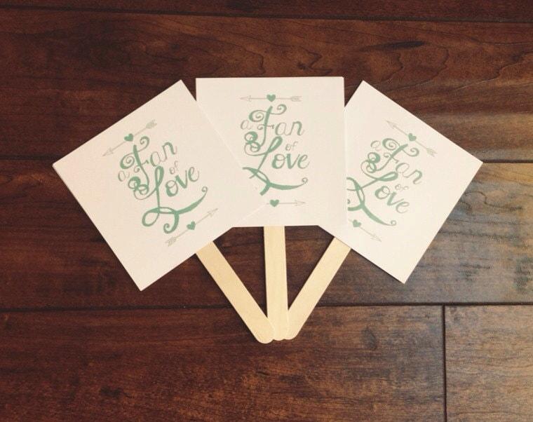DIY Printable Wedding Fan Program Of Love Paper