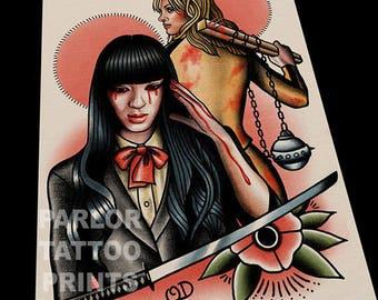 Kill Bill Tattoo Flash