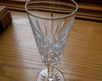 WATERFORD CRYSTAL FLUTE, Lismore pattern, Stemware, Ireland, Vintage, Collectible