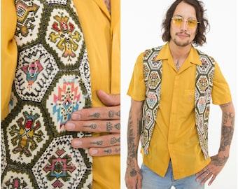 Tapestry Vest / Retro Waistcoat  / Size S