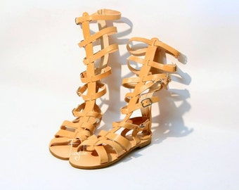 "Gladiator style Sandals - Natural Greek Leather sandals - greek leather sandals - Ancient greek sandals ""Spartacus"" -"