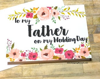 To My Father On My Wedding Day Wedding Card for Dad, Daddy's Little Girl Card, For My Dad, Dad Wedding Day Card, Father of the Bride