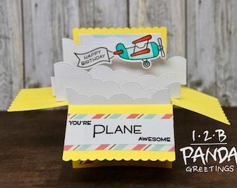 Plane Birthday Box Pop Up Card