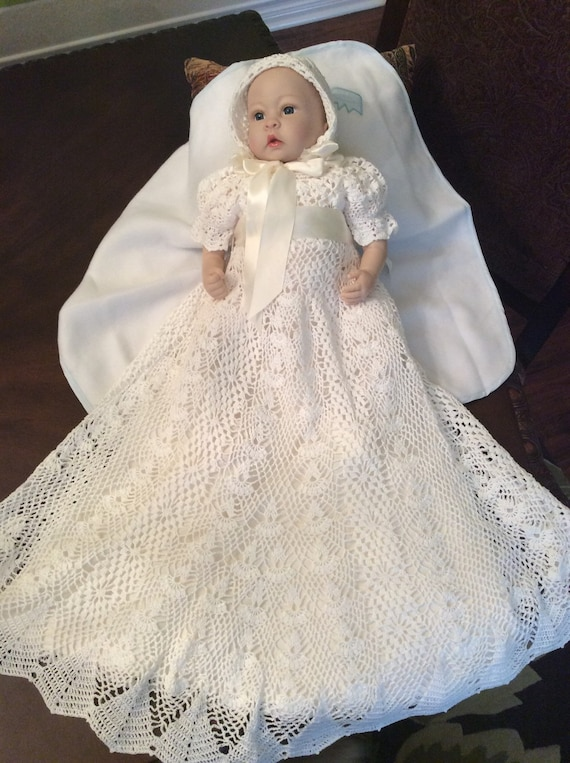 Heirloom Vintage Style Christening Gown Crochet Pattern