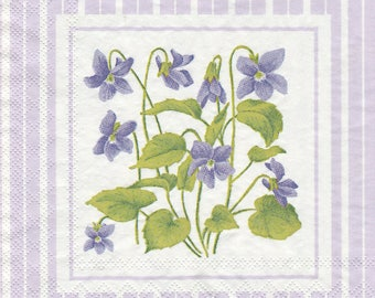 BOUQUET of VIOLETS pattern 2 405 x 2 1 lunch size paper towel