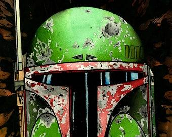 Boba Fett helmet in the mud