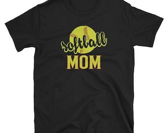 Softball Mom T Shirt Softball Mom Gift Softball Gift
