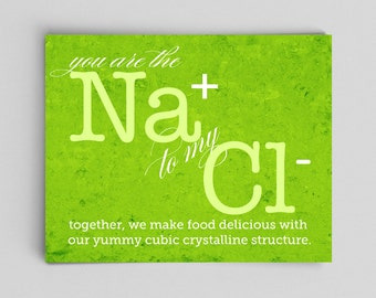 Chemistry Love Nerdy Print You're the Sodium to My Chloride Ion Nerdy Wedding Gifts for Nerds Nerdy Couple Gifts Science Gift Ideas Chemist