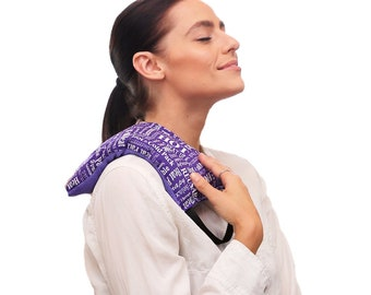 Heat Pack, Microwave Heating Pad, Natural Relaxation Pillow, Health and Wellness Gift, Hot Cold Therapy Pack (Purple)