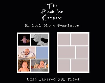 8 x 10 Collage Template #6