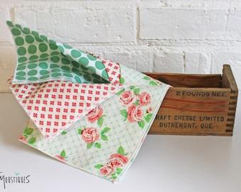 Washable cotton handkerchiefs trio