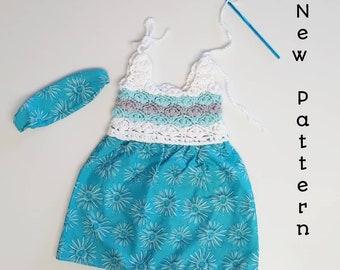 Crochet Baby Dress Pattern, Half Crochet Dress Pattern, Crochet Petal Stitch Dress Pattern, Crochet Spring Dress Pattern