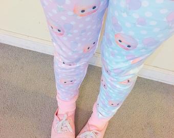 Kewpie Party Doll Leggings, Kewpie Doll Leggings, Fairy Kei Leggings, Doll Tights, Doll Leggings