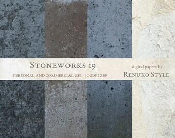 Stoneworks 19 Photoshop Textures Digital Backgrounds