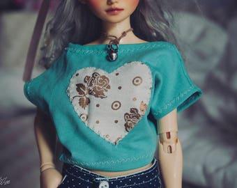 LIMITED BJD Mint Heart bat shirt