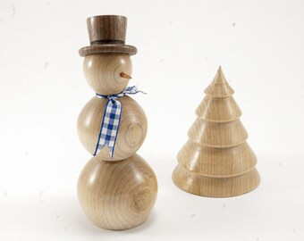 A Snowman and Tree