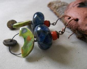 Glass bead and ceramic dangles