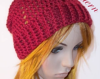 "Valentine Slouch Hat """"""P A T T E R N"""""""