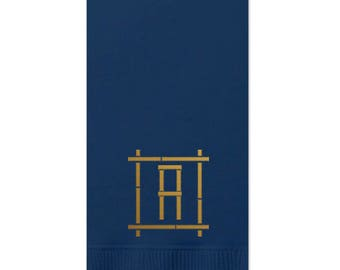 Bamboo Monogram Guest Towel Monogrammed Guest Towel Guest Bathroom Towels  Monogrammed Hand Towels Hostess Gift Paper