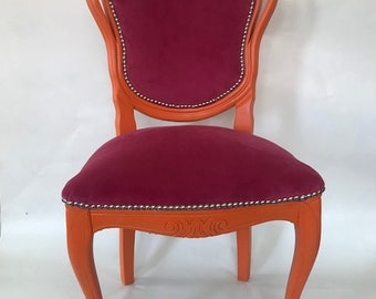 Upcycled bespoke french chair
