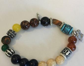 Boho jewelry, Boho style of Men's bracelet