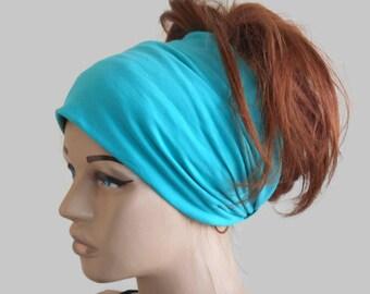 Scrunch Headband, Extra Wide Headband, Turban Headband, Wide Jersey Headband, Yoga Headband, Cotton Head band, Boho Head wrap