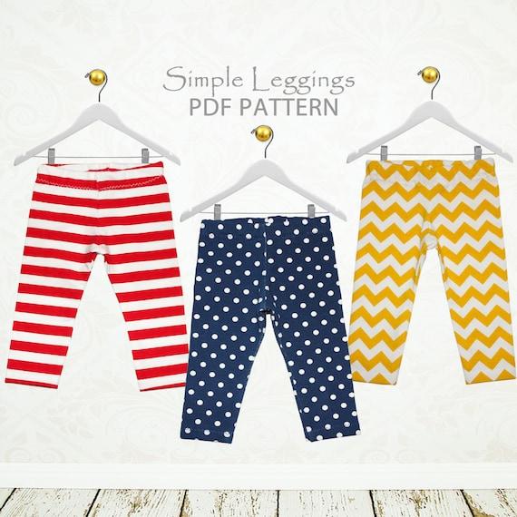 Girls Leggings pattern pdf, sewing pattern pdf, childrens sewing ...