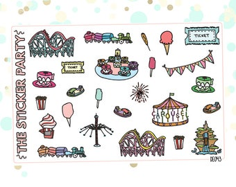 Amusement Park Planner Stickers