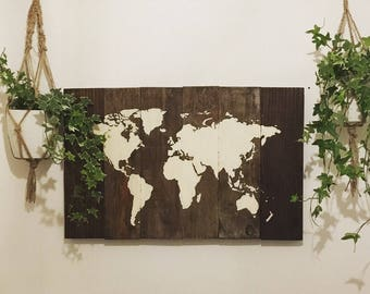 Items similar to world map wooden on etsy world map wooden table gumiabroncs Image collections