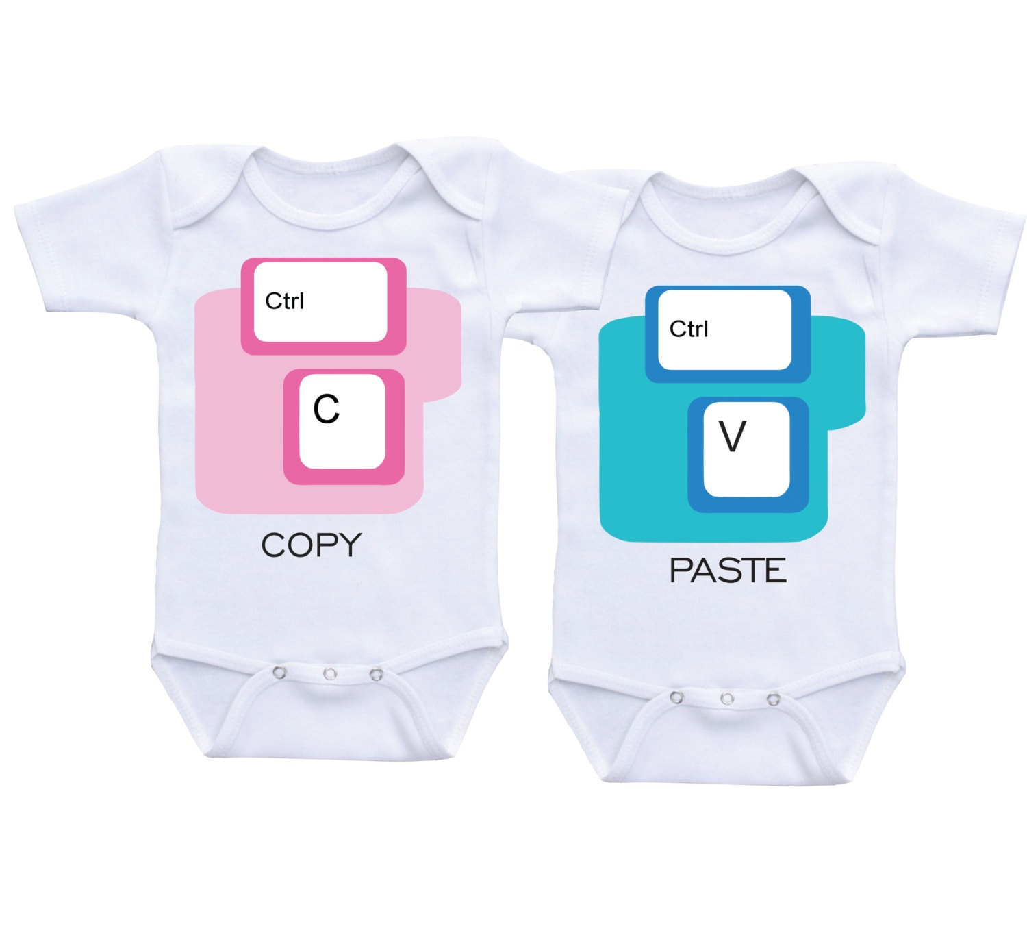 Copy and Paste Twin esies CtrlC and CtrlV Funny Twins