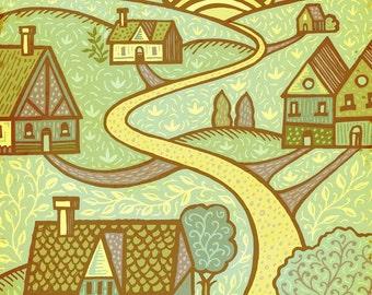 Little Houses-print