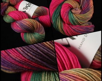 """Dyed to Order, Hand Dyed Yarn, Hand Dyed Sock Yarn, Hand Dyed DK Yarn. """"Banshee"""""""