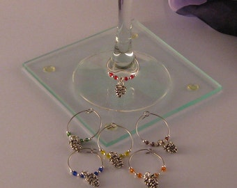 Wine Charms with Grapes Charms