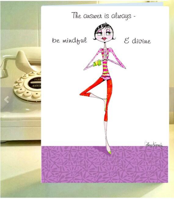 funny women birthday card funny yoga card funny birthday