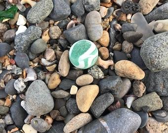 Vintage sea glass marble