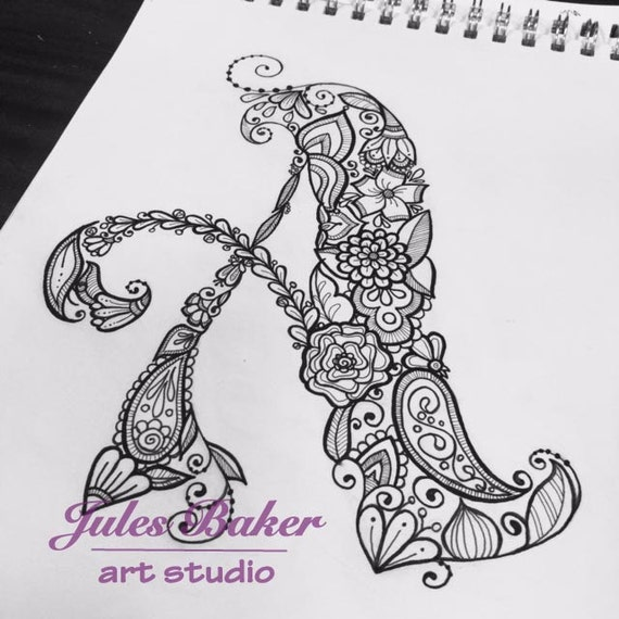 Digital Coloring Page Letter A From Letter