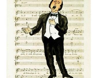 "The Opera Singer (8x10"")"