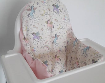 Cushion cover for the Antilop IKEA highchair - cushion cover only - unicorn pegasus pastel fabric cushion cover - made to order klammig