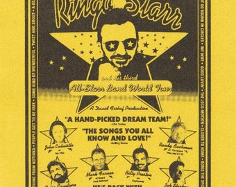 RINGO STARR 1995 Allstar Band Tour Aug 18-19 Promotional Handbill (Beatles)