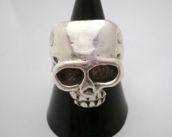 Sterling Silver Ring Keith Richards Skull