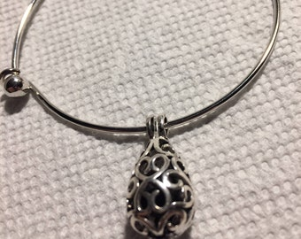 Essential Oil Diffuser Bracelet Silver Charm Locket