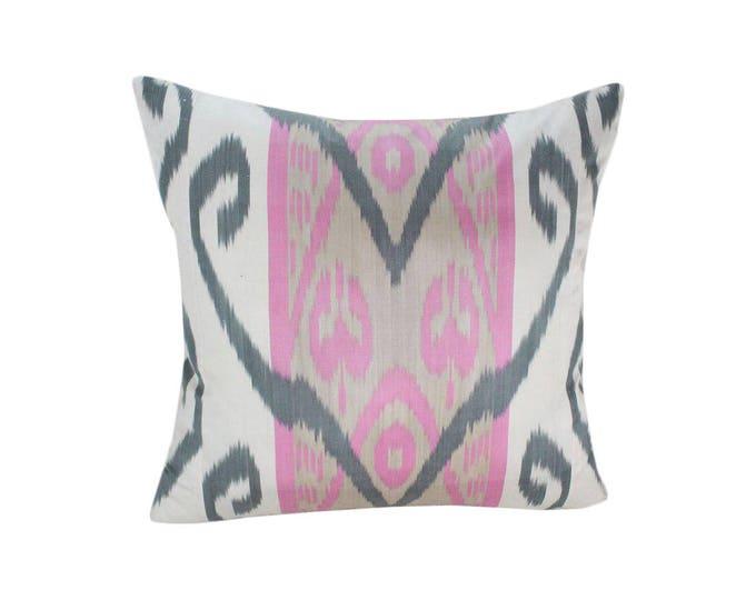 Ikat Pillow, Handmade Ikat Pillow Cover  IP153 (S184), Ikat throw pillows, Designer pillows, Decorative pillows, Accent pillows